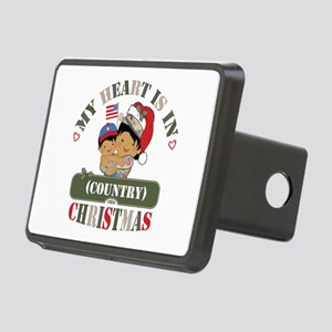 Christmas Soldier Mom Rectangular Hitch Cover
