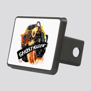 Ghost Rider Flames Rectangular Hitch Cover