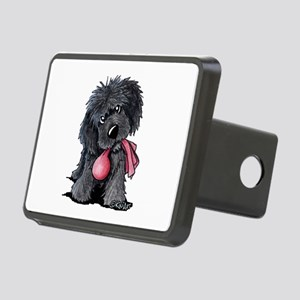 Playful Newfie Pup Rectangular Hitch Cover