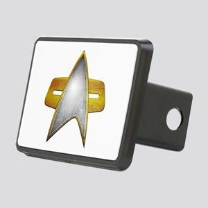Distressed Starfleet Comm Badge Rectangular Hitch