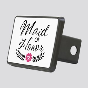 Cute Pink Maid of Honor Rectangular Hitch Cover