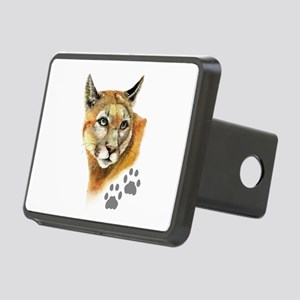 Watercolor Mountain Lion C Rectangular Hitch Cover