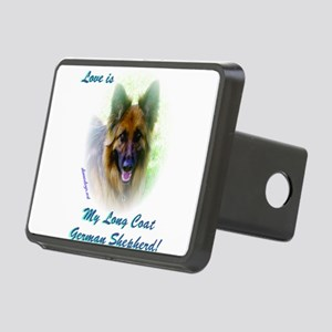 Love is my Long Coat Shepherd Hitch Cover