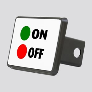 On Off Button Rectangular Hitch Cover