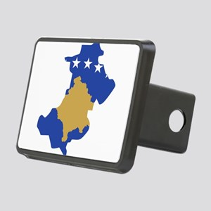 North Kosovo Flag and Map Rectangular Hitch Cover