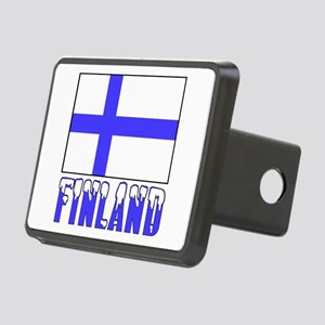 Finland Flag Name Snow Rectangular Hitch Cover