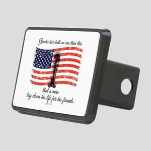 No greater love - Fallen S Rectangular Hitch Cover