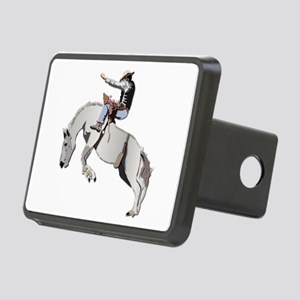 Bronc Rider Rectangular Hitch Cover