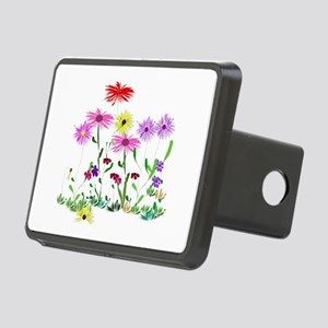 Flower Bunches Rectangular Hitch Cover