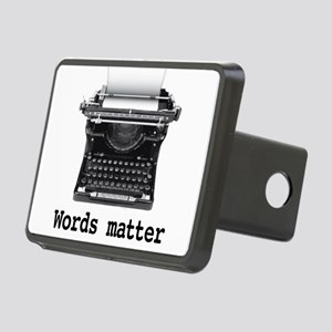 Words matter Rectangular Hitch Cover
