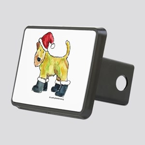Wheaten terrier playing Santa Rectangular Hitch Co