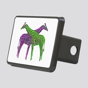 Bright Giraffes Rectangular Hitch Cover
