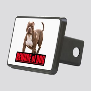 Beware of dog Rectangular Hitch Cover