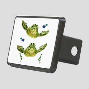 Sea turtles, fish and sea Rectangular Hitch Cover