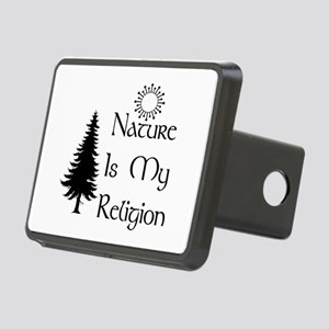 Nature Is My Religion Rectangular Hitch Cover