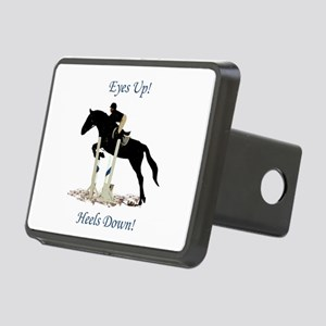 Eyes Up! Heels Down! Horse Rectangular Hitch Cover