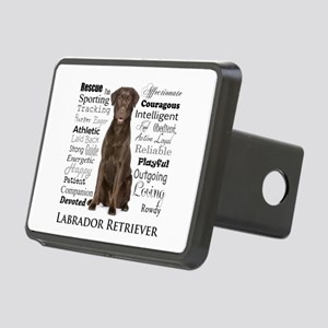 Chocolate Lab Traits Hitch Cover
