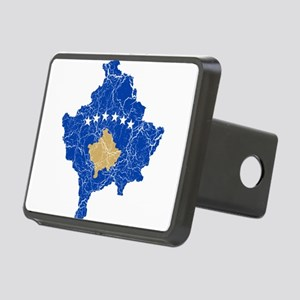 Kosovo Flag And Map Rectangular Hitch Cover