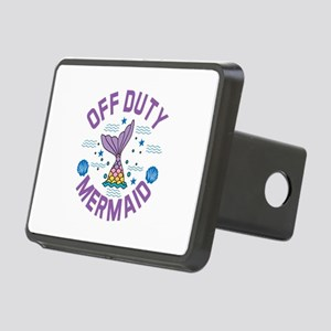 Mermaid Off Duty Rectangular Hitch Cover