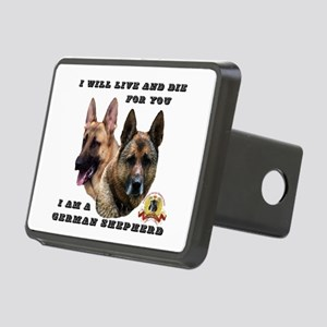GSD Live and Die For You Rectangular Hitch Cover