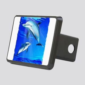 Mom Baby Dolphin Rectangular Hitch Cover