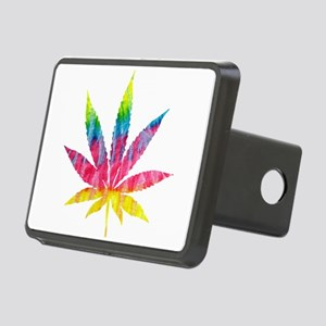 Tie Dye Cannabis Leaf Rectangular Hitch Cover
