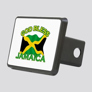 Patriotic Jamaica designs Rectangular Hitch Cover