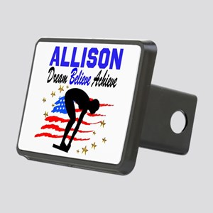 PERSONALIZE SWIMMER Rectangular Hitch Cover