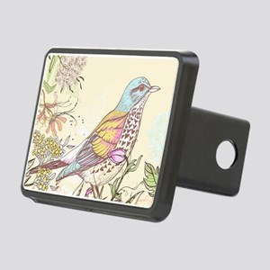 Bird and Flowers Hitch Cover