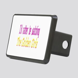 Rather Be Watching Golden Rectangular Hitch Cover