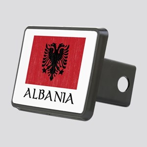 Albania Flag Rectangular Hitch Cover