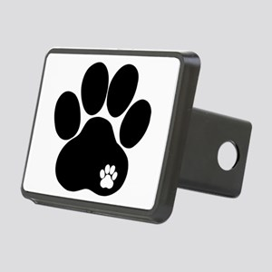 Double Paw Rectangular Hitch Cover