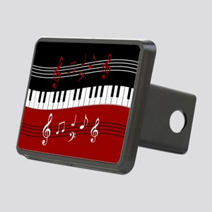 Stylish Piano keys and mus Rectangular Hitch Cover