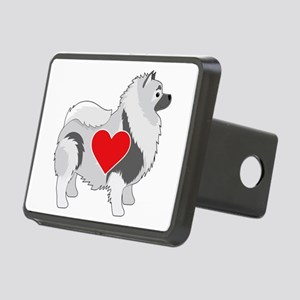 Keeshond Rectangular Hitch Cover