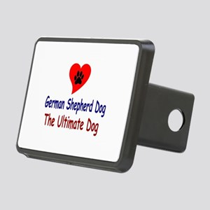 GSD Heart Paw Rectangular Hitch Coverle)