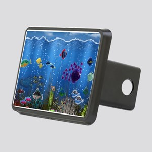 Underwater Love Rectangular Hitch Cover