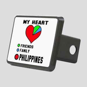 My Heart Friends, Family a Rectangular Hitch Cover