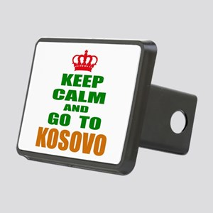 Keep Calm And Go To Kosovo Rectangular Hitch Cover