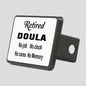 Retired Doula Rectangular Hitch Cover