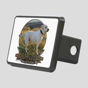 White lab loyalty Rectangular Hitch Cover