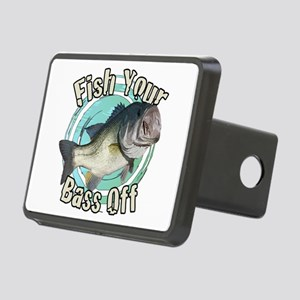 Fish your Bass off Rectangular Hitch Cover