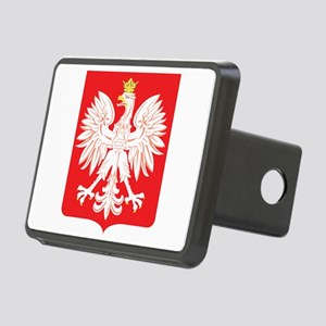 Polish Eagle Red Shield Rectangular Hitch Cover