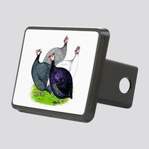 Four Guineafowl Rectangular Hitch Cover