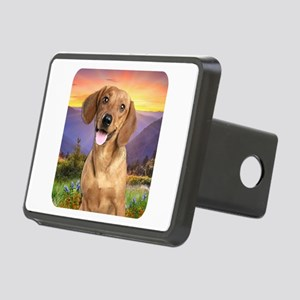 Dachshund Meadow Rectangular Hitch Cover