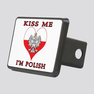 Kiss Me I'm Polish Rectangular Hitch Cover
