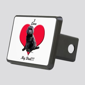 Black Golden Doodle Love Dad Hitch Cover