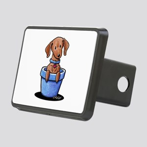 KiniArt Potted Doxie Rectangular Hitch Cover