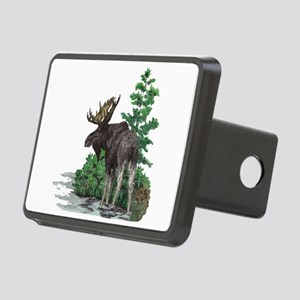 Bull moose art Rectangular Hitch Cover