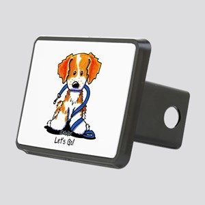 French Brittany Let's Go! Rectangular Hitch Cover