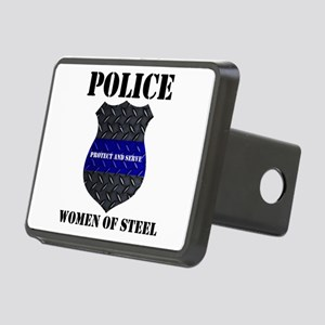 Police Women Of Steel Badge Hitch Cover